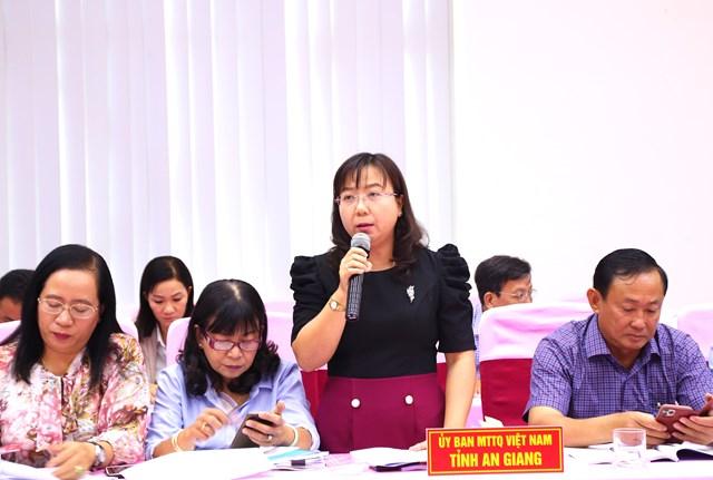 Bà Nguyễn Thị Tuyết Minh, Phó Chủ tịch UBMTTQ Việt Nam tỉnh An Giang cho biết.