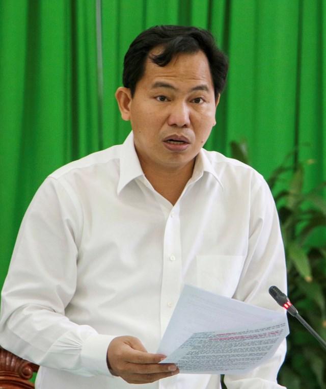 Chủ tịch UBND Thành phố Cần Thơ Lê Quang Mạnh phát biểu