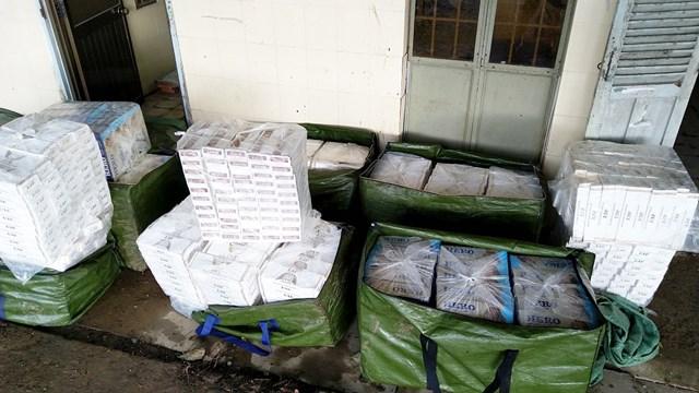 23.400 gói thuốc lá lậu chủ yếu thuốc Hero và Jet.