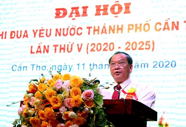 Bí thư Thành uỷ Cần Thơ Trần Quốc Trung phát biểu tại đại hội