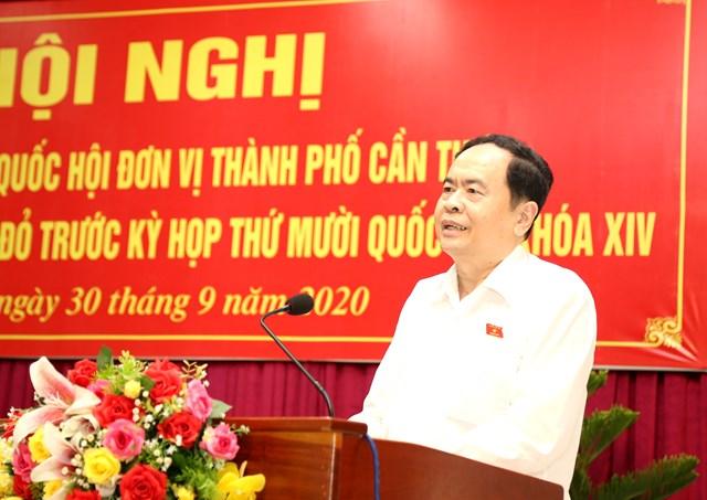 Chủ tịch Trần Thanh Mẫn trả lời ý kiến cử tri.