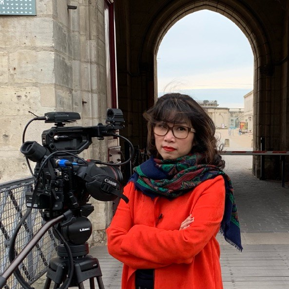 Nhà báo Nguyễn Mỹ Linh.