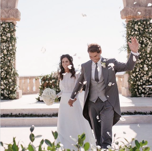 Rafael Nadal và bà xã Xisca Perello vừa tổ chức đám cưới hồi cuối năm ngoái.