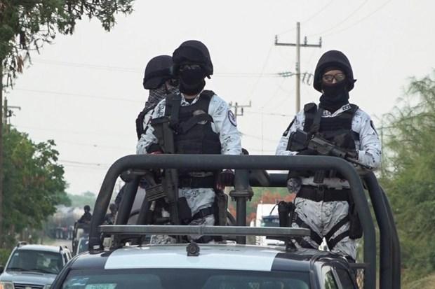 Lực lượng Vệ binh Quốc gia Mexico tuần tra. (Nguồn: Reuters).
