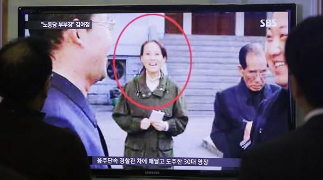 Kim Yo-jong xuất hiện trong một chương trình tin tức trên truyền hình, năm 2014.