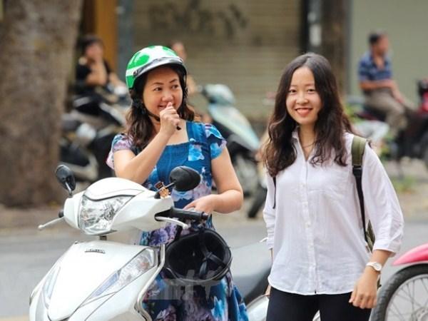 Thí sinh dự thi Trung học phổ thông quốc gia . (Ảnh: Minh Sơn/Vietnam+).