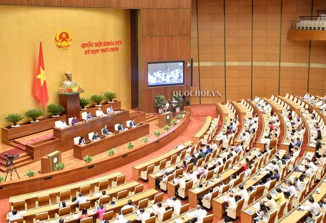 Kỳ họp thứ 9 Quốc hội khoá XIV, ngày 13/6/2020. (Ảnh: Quohoi.vn).