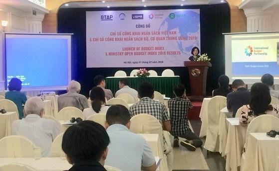 Hội thảo công bố Chỉ số công khai ngân sách Việt Nam và Chỉ số công khai ngân sách Bộ, cơ quan Trung ương năm 2019.