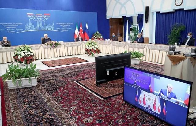 Nga, Iran và Thổ Nhĩ Kỳ ra tuyên bố chung về tình hình tại Syria - Ảnh 1