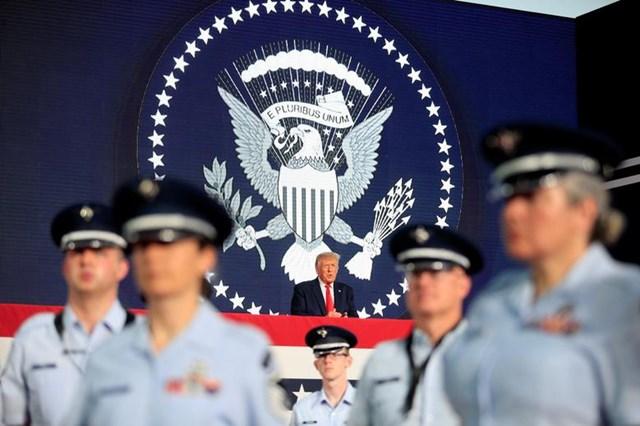 Tổng thống Trump phát biểu tại sự kiện mừng Quốc khánh Mỹ ở Keystone, Nam Dakota ngày 3/7.