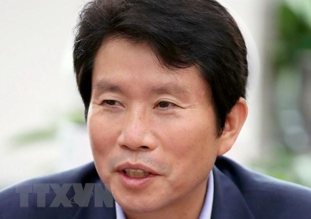 Nghị sỹ Lee In-young, người được bổ nhiệm làm Bộ trưởng Thống nhất Hàn Quốc, tại văn phòng ở Seoul, ngày 3/7/2020. (Nguồn: Yonhap/TTXVN).