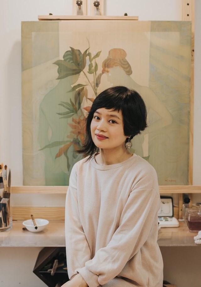 Họa sĩ Nguyễn Thu Hương.