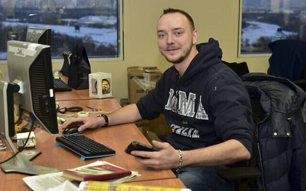 Ivan Safronov khi còn làm việc cho báo Kommersant hồi năm 2016. (Ảnh: AP).