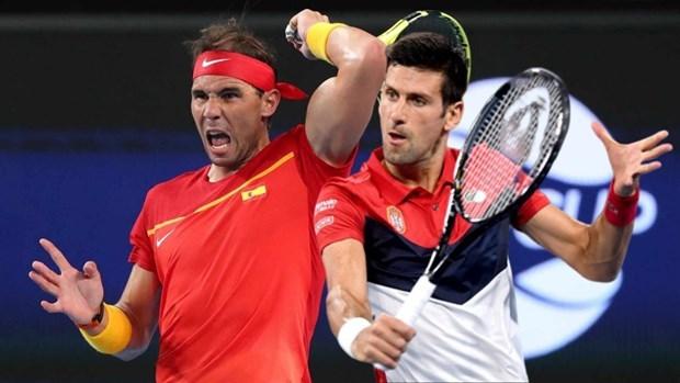 Djokovic và Nadal (trái) là hai tay vợt có thứ hạng cao nhất bảng xếp hạng ATP. (Nguồn: AP).