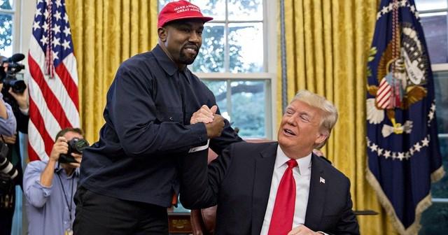 Tổng thống Mỹ Donald Trump và ca sĩ nổi tiếng Kanye West (Ảnh: Reuters).