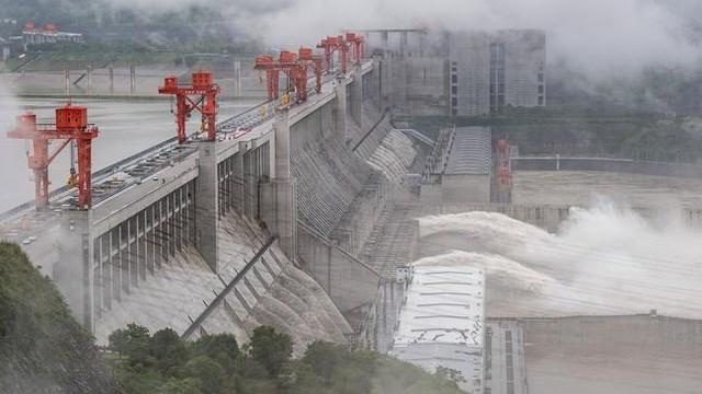 Đập Tam Hiệp của Trung Quốc xả nước hôm 29/6 (Ảnh minh họa: AFP).