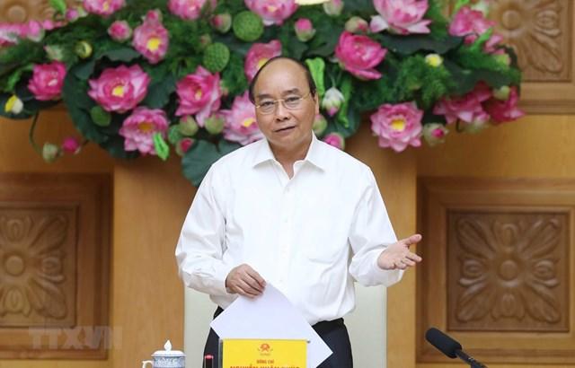 Thủ tướng Nguyễn Xuân Phúc, Chủ tịch Hội đồng phát biểu. (Ảnh: Thống Nhất/TTXVN).