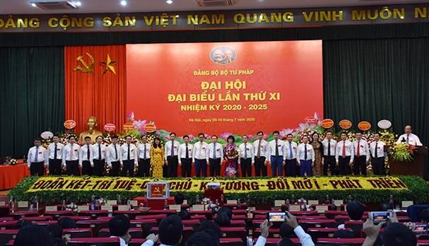 Đại hội Đảng bộ Bộ Tư pháp lần thứ X đã thành công tốt đẹp.