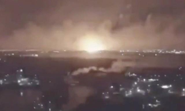 Vụ nổ bồn chứa gas ở Tehran hôm 26/6. Ảnh: IRIB.