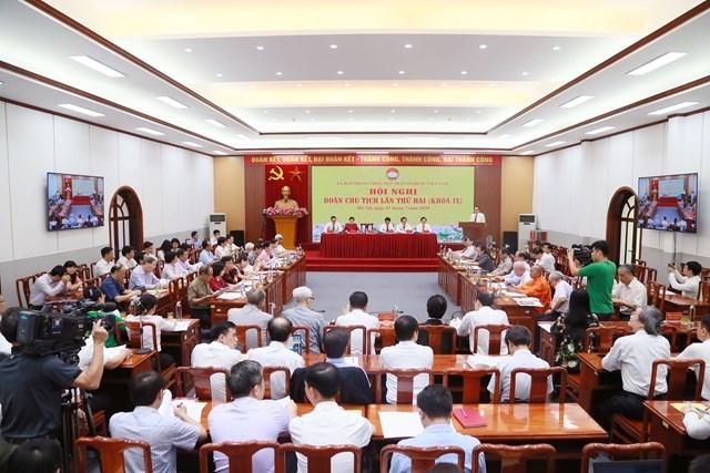 Quang cảnh Hội nghị Đoàn Chủ tịch UBTƯ MTTQ Việt Nam lần thứ hai (Khóa IX). Ảnh: Quang Vinh.