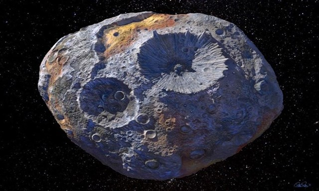 Thiên thạch Psyche 16 có thể là lõi của một hành tinh đang hình thành. Ảnh: NASA.