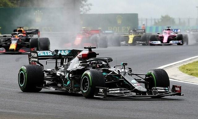 Hamilton thắng chặng thứ hai mùa này. Ảnh: XPB.