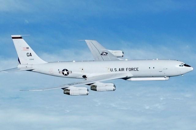 Một máy bay E-8C của Mỹ (Ảnh: SCMP).