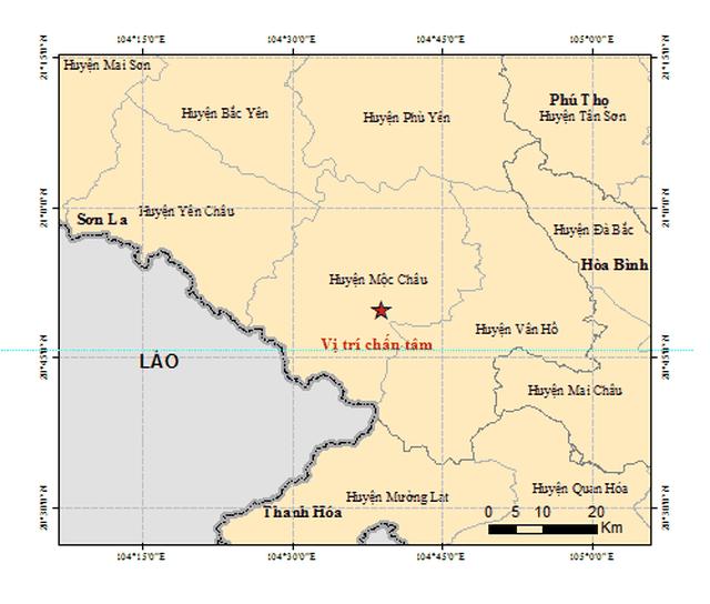 2 ngày đã xảy ra 6 trận động đất ở Sơn La.