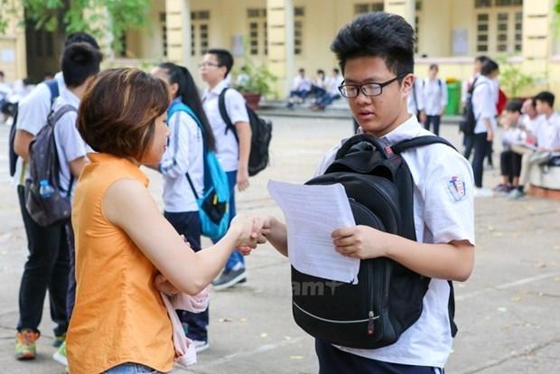 Thí sinh dự thi vào lớp 10 tại Hà Nội. (Ảnh: PV/Vietnam+).