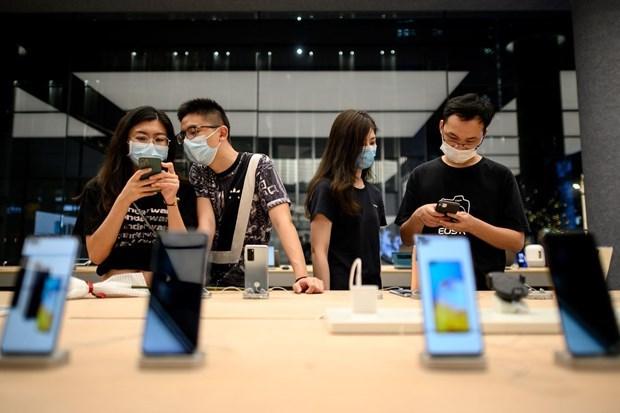 Một cửa hàng bán điện thoại của Huawei ở Trung Quốc. (Nguồn: Getty images).