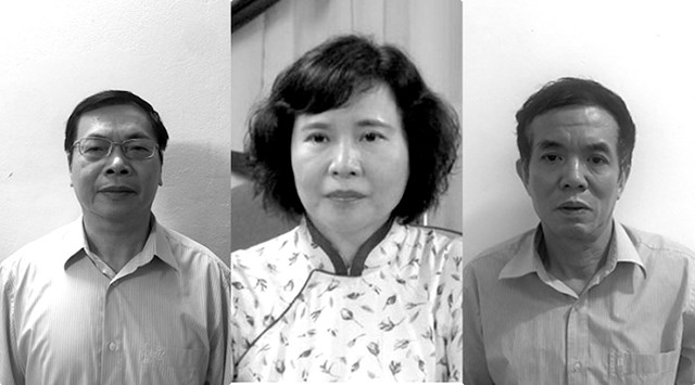 Từ trái qua phải: ông Nguyễn Huy Hoàng, bà Hồ Thị Kim Thoa và ông Phan Chí Dũng.