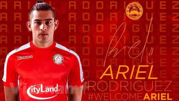 Tân binhAriel Rodriguez của Á quân V-League 2019. (Ảnh: CLB TP HCM).