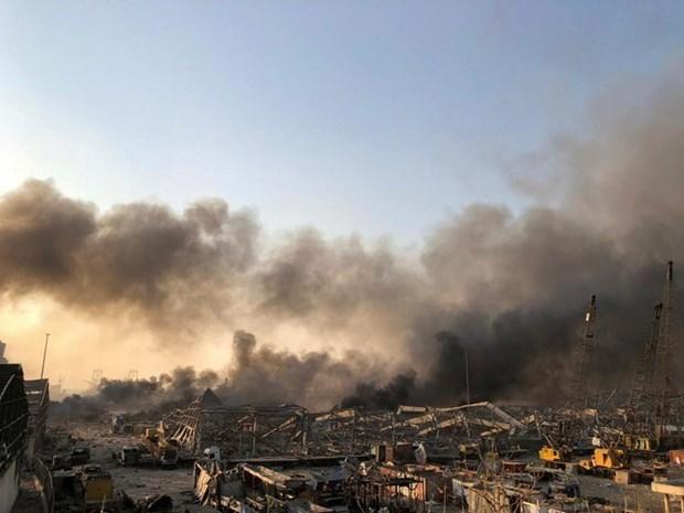 Cảnh tan hoang sau vụ nổ. (Nguồn: Vietnam+).