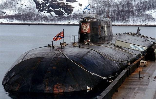 Tàu ngầm Kursk của Nga, năm 1999.