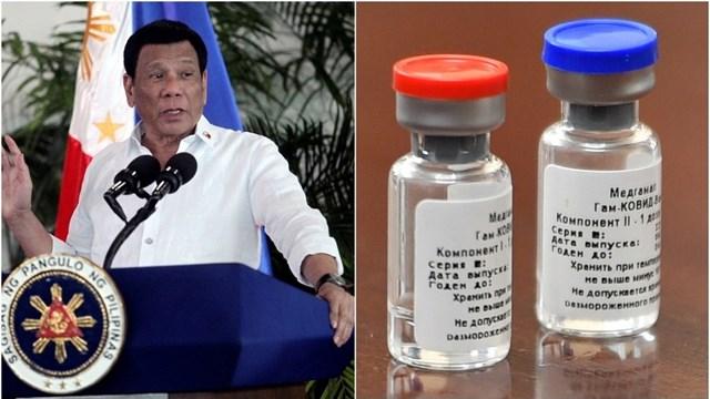 Tổng thống Philippines Rodrigo Duterte sẵn sàng thử Sputnik-V. Nguồn: RT.