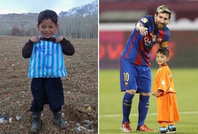 Sau bức ảnh tạo dáng với chiếc áo tự tạo bằng linon vào đầu năm 2016, cậu bé 5 tuổi người Afghanistan đã được gặp và tiền đạo người Argentina Lionel Messi của trong trận giao hữu giữa Barcelona với Al-Ahli, ngày 13/12/2016 tại thủ đô Doha của Qatar.
