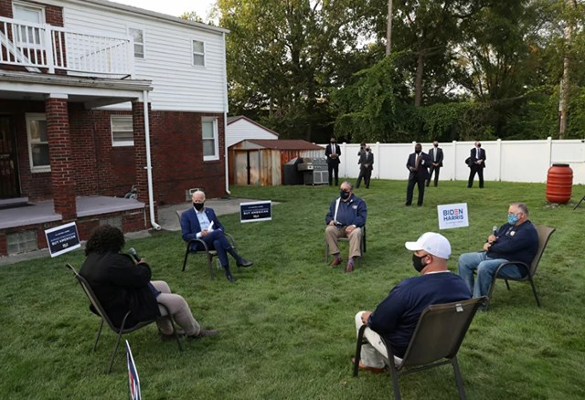 Một cuộc họp với ứng cử viên Tổng thống của đảng Dân chủ - ông Joe Biden.