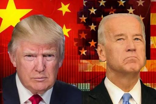 Tổng thống Trump (trái) và đối thủ Biden hiện đồng quan điểm về việc Mỹ phải có chính sách cứng rắn đối với Trung Quốc. Ảnh: NBC, NYT.
