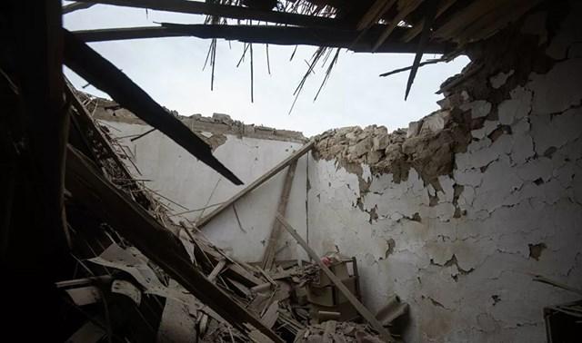 [ẢNH] Nagorno-Karabakh bị tàn phá nặng nề sau trận pháo kích  - Ảnh 7