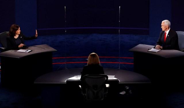 Bà Harris và ôngPence khá điềm tĩnh trong cuộc tranh luận duy nhất của họ. Ảnh: Reuters.