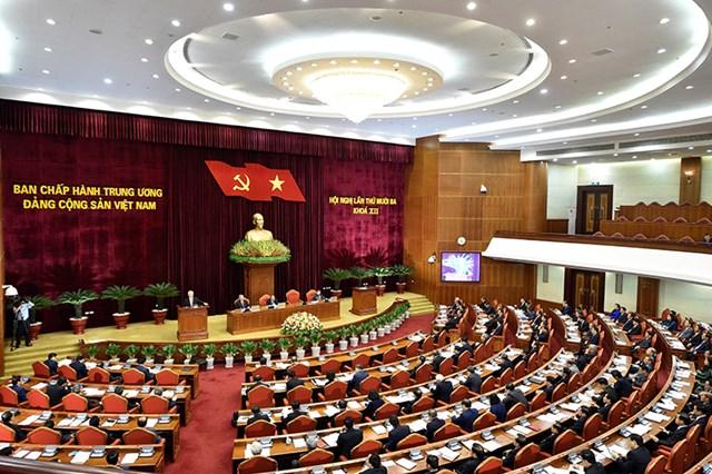 Quang cảnh phiên khai mạc Hội nghị Trung ương 13 khóa XII. Ảnh: VGP.