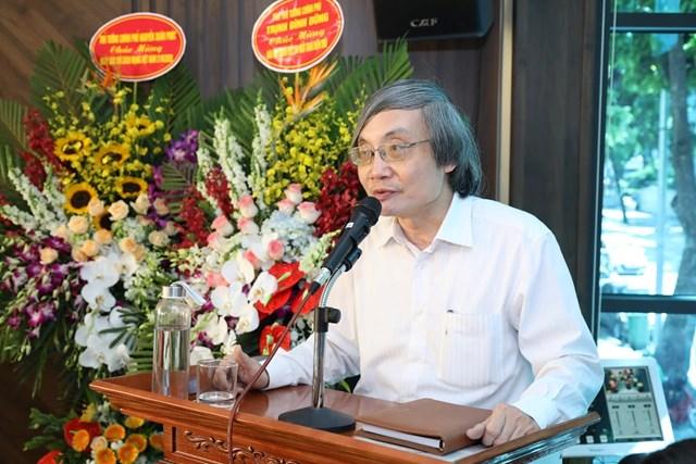 Phó Tổng Biên tập Báo Đại Đoàn Kết Nguyễn Quốc Khánh phát biểu tại buổi Lễ. (Ảnh: Quang Vinh).