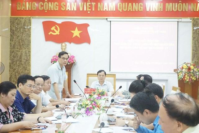 Đoàn kiểm tra của UBTƯ MTTQ Việt Nam giám sát việc thực hiện các chính sách hỗ trợ đối tượng khó khăn do đại dịch Covid-19 tại tỉnh Phú Thọ Ảnh: Đức Thắng.