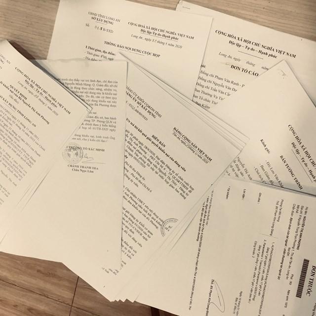 Hồ sơ khiếu nại của bà Nguyễn Thị Anh Phương gửi các cơ quan báo chí.