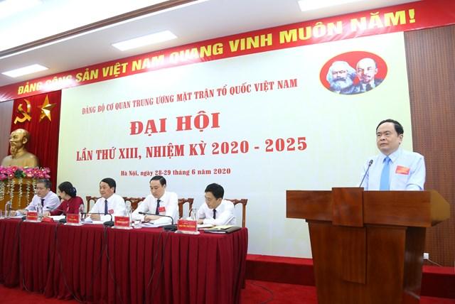 BẢN TIN MẶT TRẬN: Đại hội Đảng bộ cơ quan Trung ương MTTQ Việt Nam - Ảnh 1