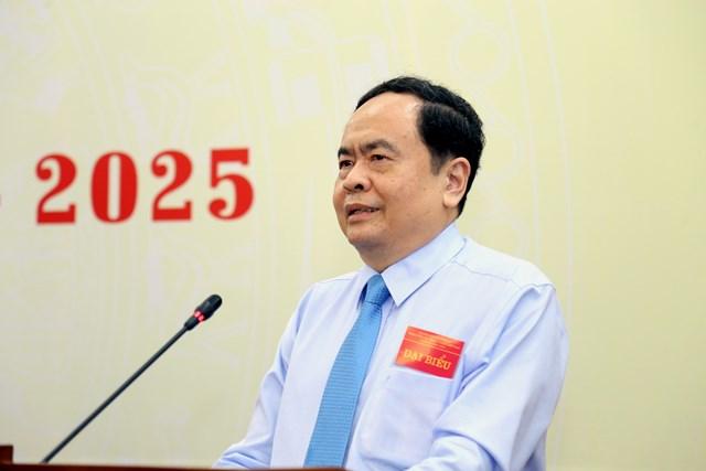 Chủ tịch Trần Thanh Mẫn phát biểu tại Đại hội.