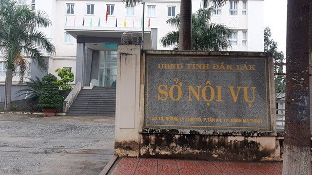 Sở Nội vụ tỉnh Đắk Lắk - nơi ông Trần Hữu Tuệ công tác trước khi bị bắt.