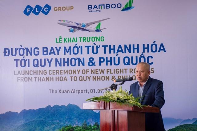 Ông Võ Huy Cường, Phó Cục trưởng Cục Hàng không Việt Nam đánh giá cao nỗ lực của Bamboo Airways trong công cuộc gia tăng liên kết vùng giữa các địa phương.