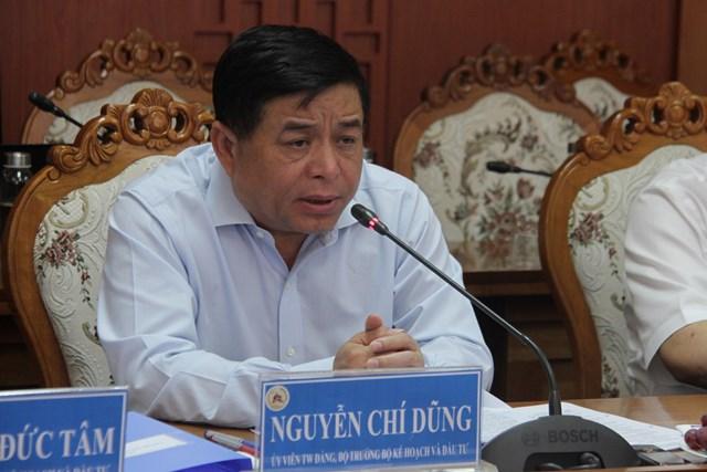Bộ trưởng Nguyễn Chí Dũng phát biểu tại buổi làm việc.