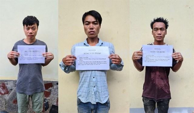 3 đối tượng bị bắt giữ.